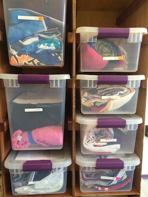 storing quilts in progress