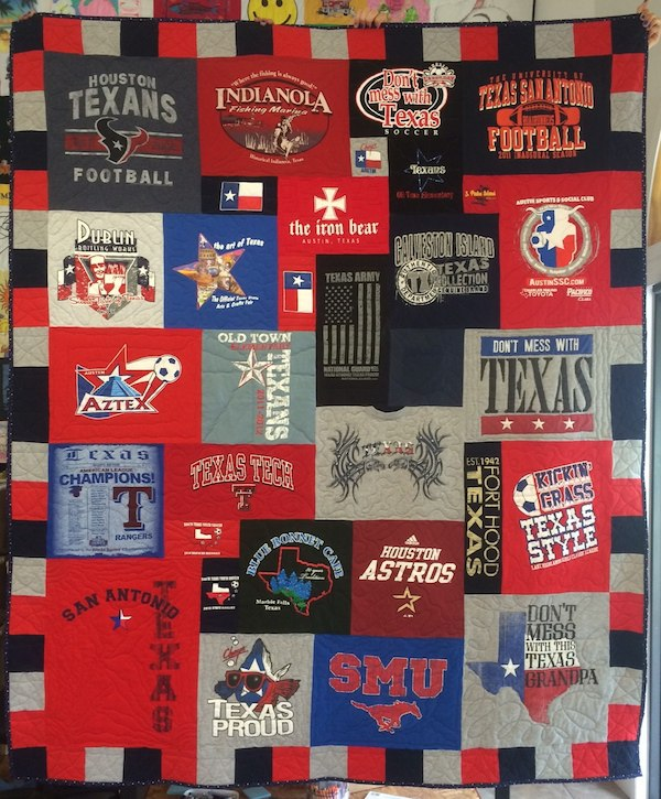 Texas Themed T-shirt Quilt