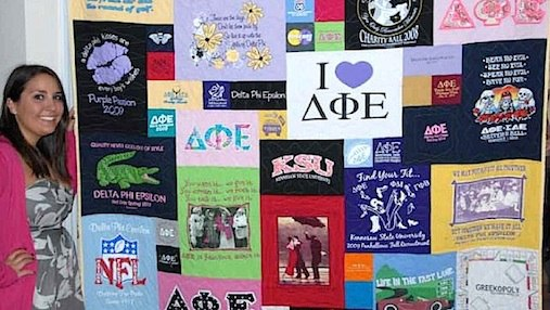 Click here to see more sorority T-shirt quilts