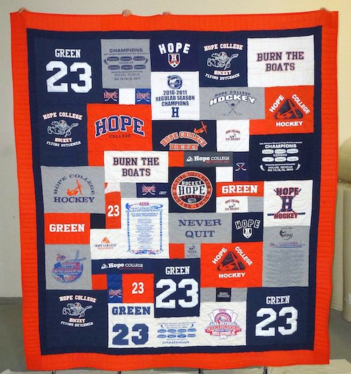 Hope College T-shirt Quilt