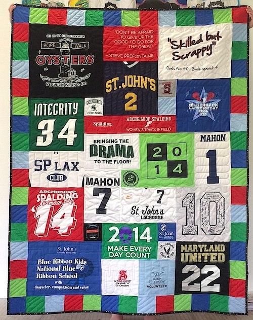 graduation Tshirt quilt with fun border