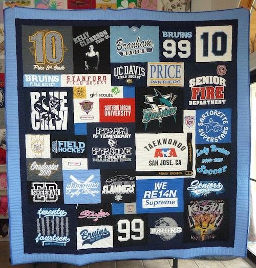 Taekwondo t-shirt quilt