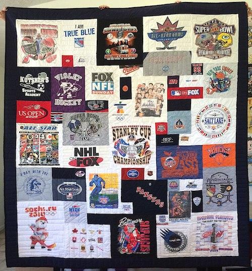 hockey fan t-shirt quilt