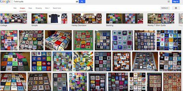 A google search of T-shirt quilts shows a lot of different types of quilts and makers.