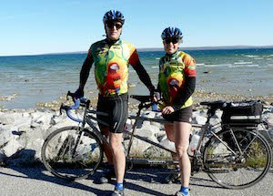 T-shirt quilter like to ride the tandem