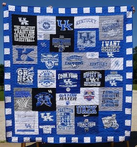 University of Kentucky T-shirt quilt