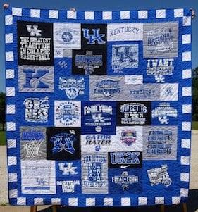 University of Kentucky T-shirt quilt