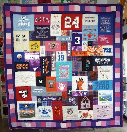 t-shirt quilt with a fancy border
