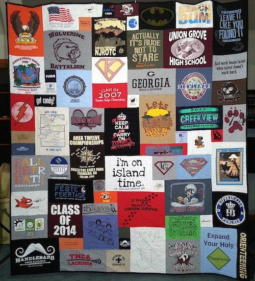 graduation Tshirt quilt