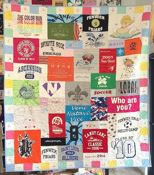 tee shirt quilt with border