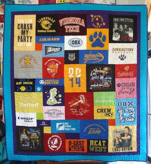 graduation t-shirt quilt gift