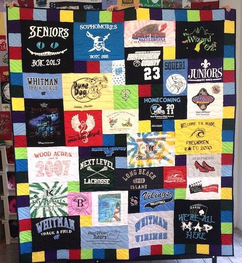 tshirt quilt for graudation