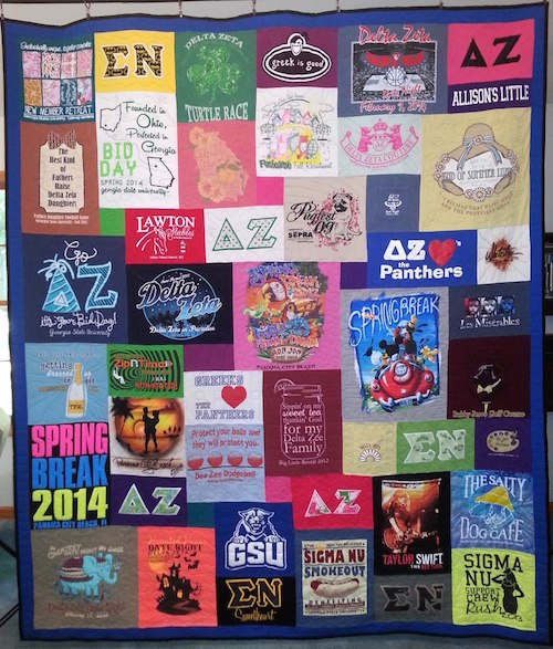 sorority tshirt quilt