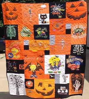 Halloween T-shirt quilt