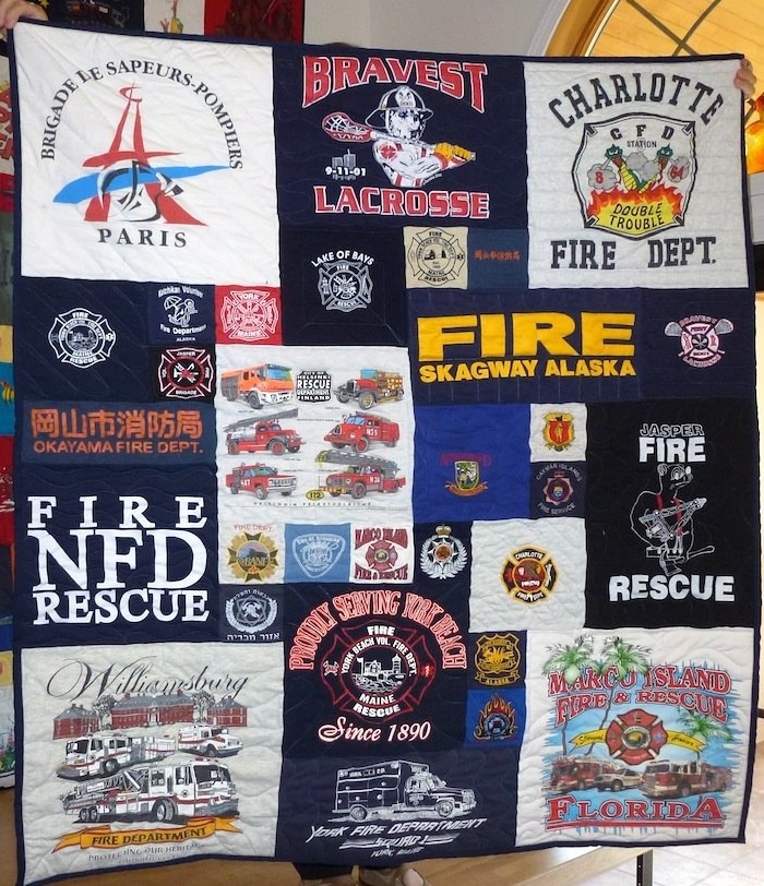 Firefighters And Their T Shirts