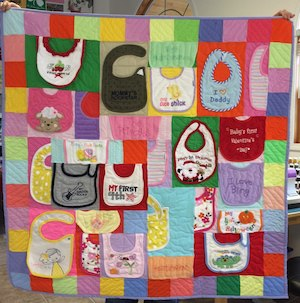 Beyond The T-shirt... Other Types of Clothing & Textile Quilts : quilted baby bibs - Adamdwight.com