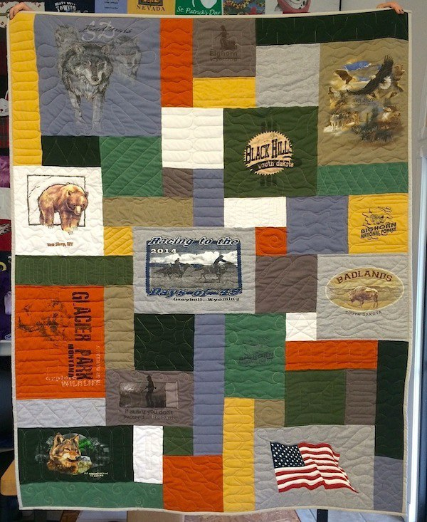 Click on me for more pictures of T-shirt quilts!