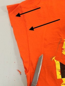 cutting_T-shirts_for_storage
