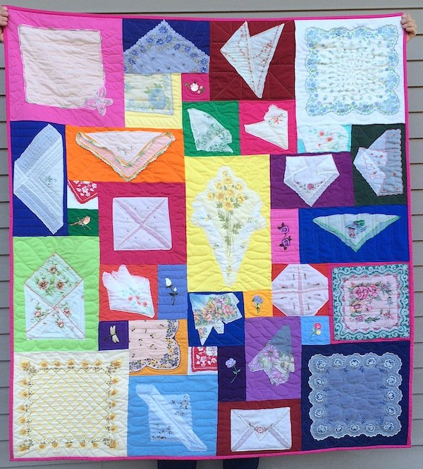 Hankies made into a quilt