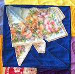 Hankies used in a quilt