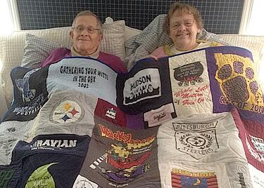 Grandparent's T-shirt Quilt great gift
