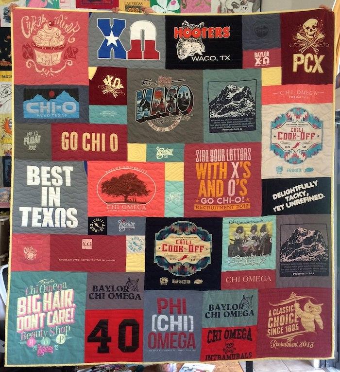 Chi-O T-shirt Quilt