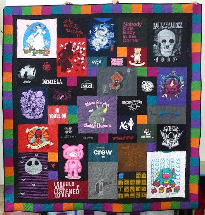 Jewel Tone T-shirt Quilt