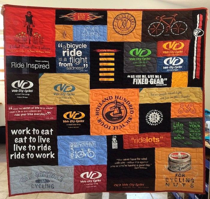 Bicycle Shop T-shirt Quilt