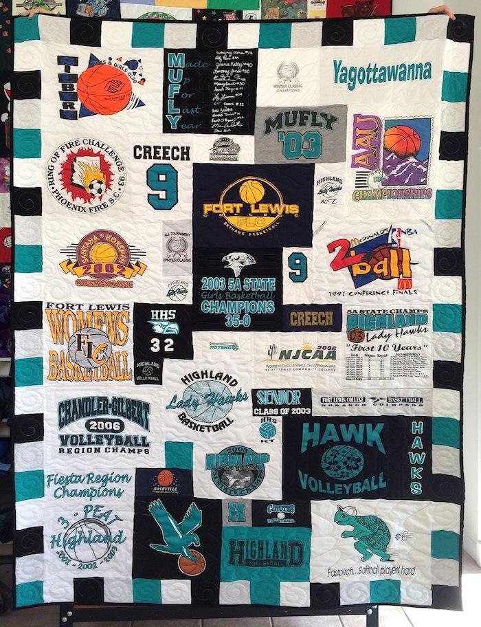 Lady Hawks T-shirt Quilt