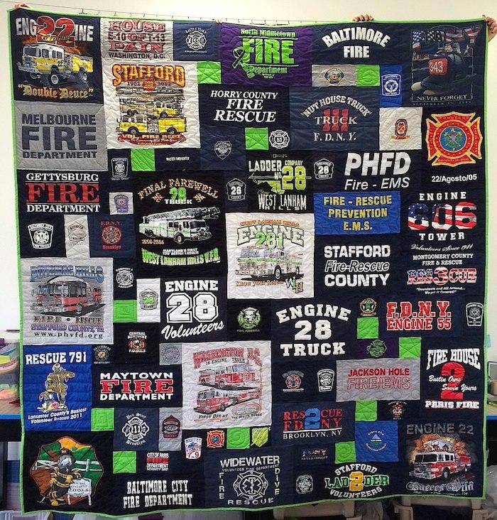 Fire Fighter's T-shirt Quilt