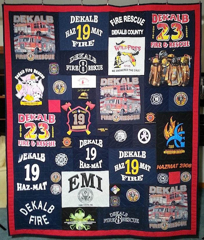 DeKalb Fire Department T-shirt Quilt
