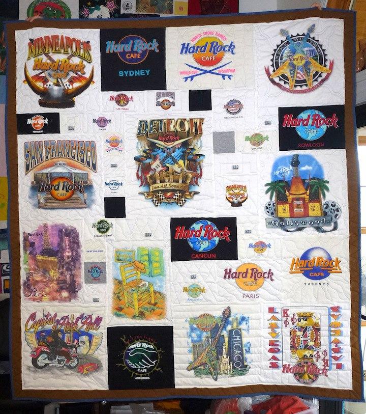 Hard Rock Cafe T-shirt Quilt