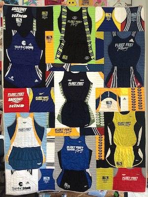 T-shirt Quilts for Runners - It's More Than Just T-shirts : running t shirt quilt - Adamdwight.com