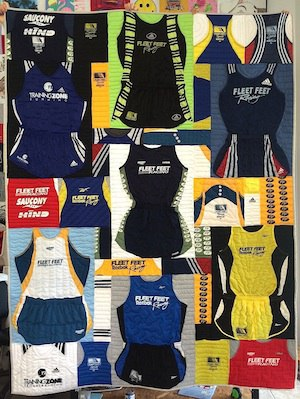 Runner's outfits in a Too Cool T-shirt Quilt