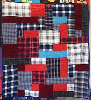 Plaid shirt quilt