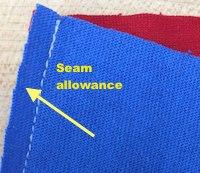 """Standard seam allowance on a T-shirt quilt is 1/4""""."""