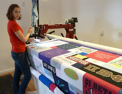Click here to see more pictures of T-shirt Quilts!