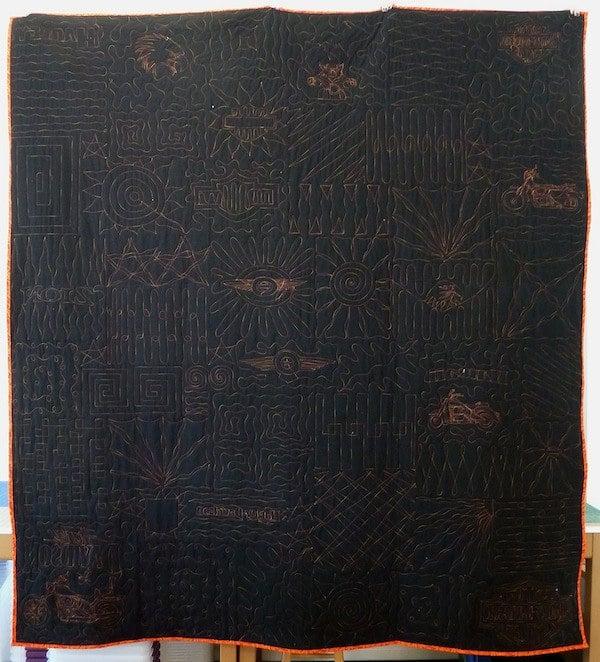 back of harley quilt
