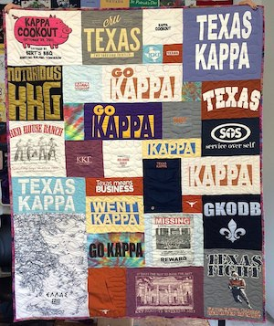 Kappa Sorority T-shirt Quilt
