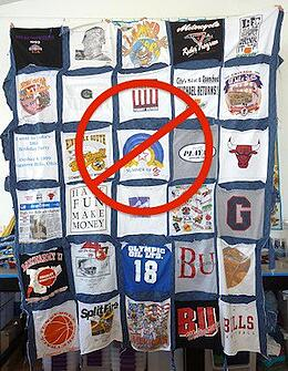 This is how NOT to make a T-shirt quilt.
