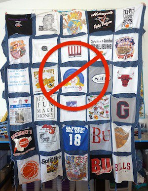 How not to make a T-shirt quilt