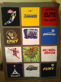 traditional style T-shirt quilt