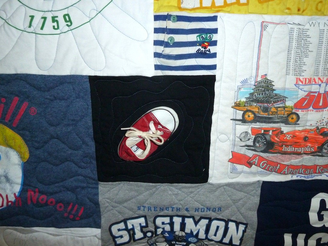 Baby Shoe in a T-shirt Quilt