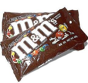 m&ms as packing material?