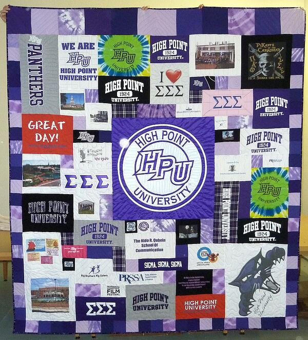 Banner in a Tshirt quilt