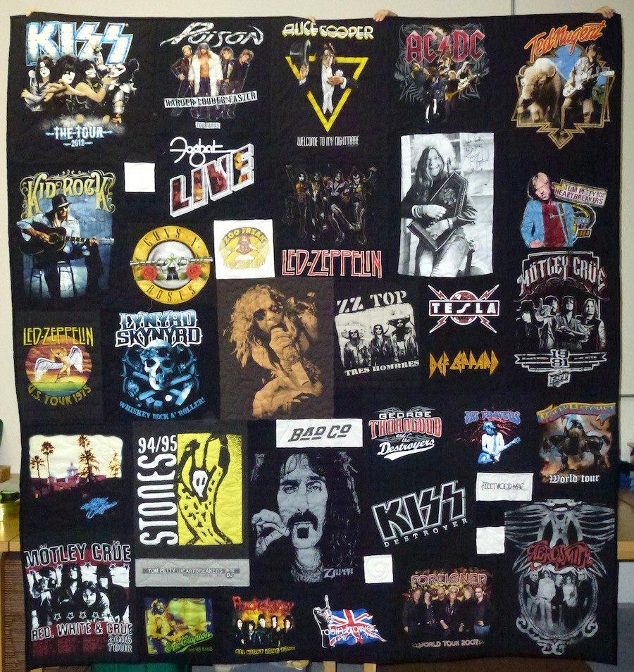 Rock N Roll Concert T Shirt Quilts