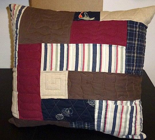 memorial clothing pillow