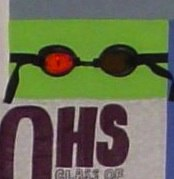 goggles used in a T-shirt quilt