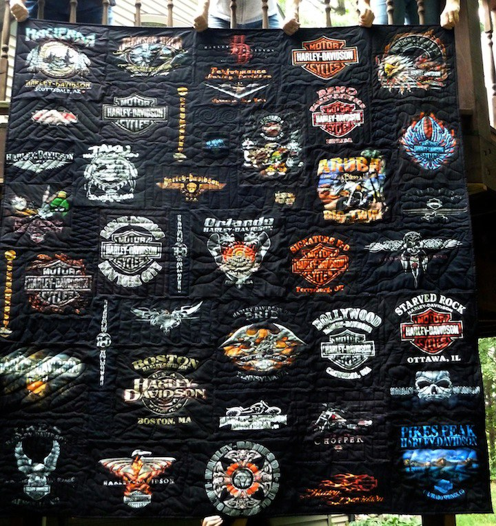 Your Harley Davidson T Shirt Quilt