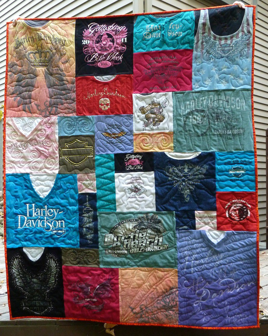 Harley Chick T-shirt quilt